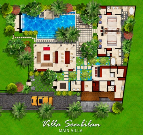 Bali beach villas bali villas for rent villa sembilan for Beach villa design ideas